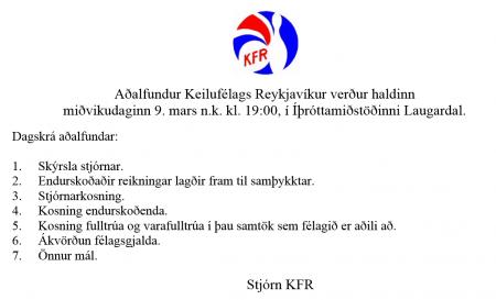 Aðalfundur KFR 2016