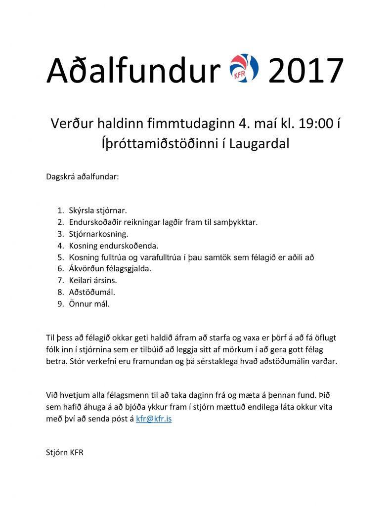 Aðalfundur-KFR